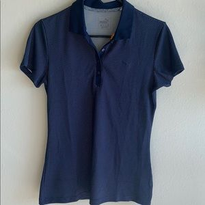 NWT PUMA polo shirt with polka dots size small